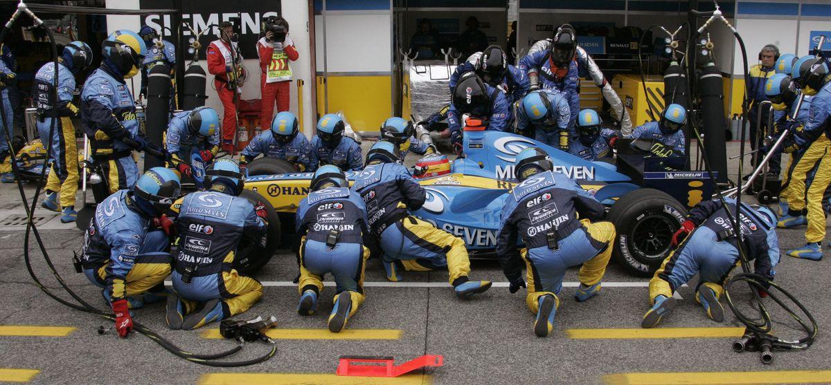 Fernando Alonso (Renault) au Grand Prix de Saint-Marin 2005