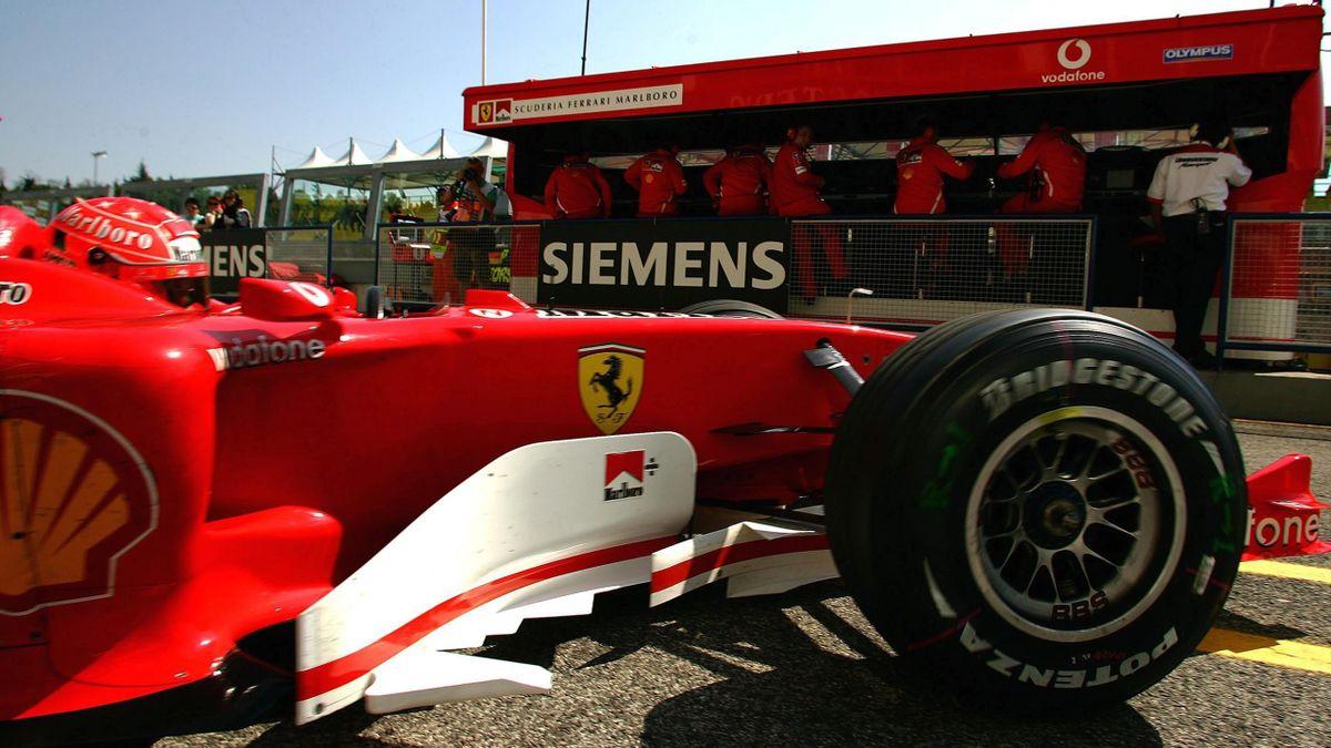 Michael Schumacher (Ferrari) au Grand Prix de Saint-Marin 2005