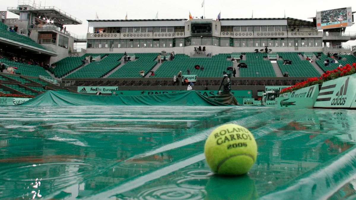 TENNIS 2006 French Open Rain