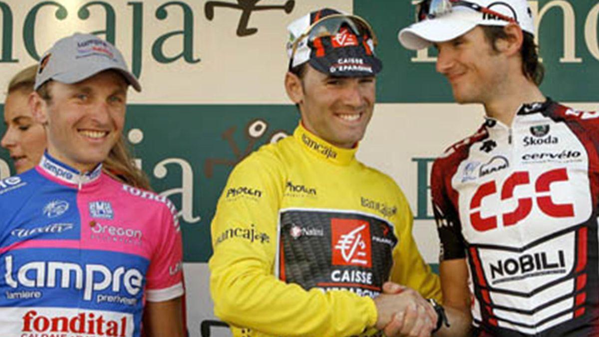 CYCLING 2007 Tour of Valencia Caisse d'Epargne Valverde en el podio Vuelta a la Comunidad Valenciana