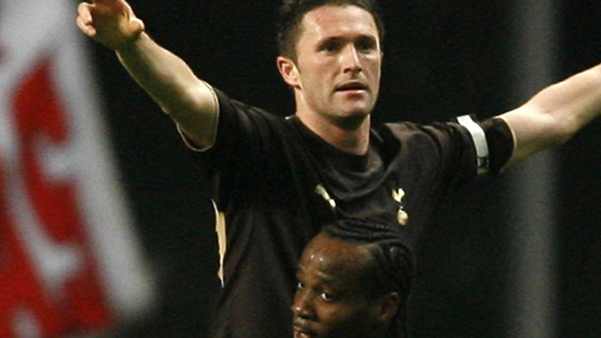 FOOTBALL 2006-2007 UEFA Cup Robbie Keane Pascal Chimbonda Spurs Tottenham Hotspur Spurs v Sporting Braga