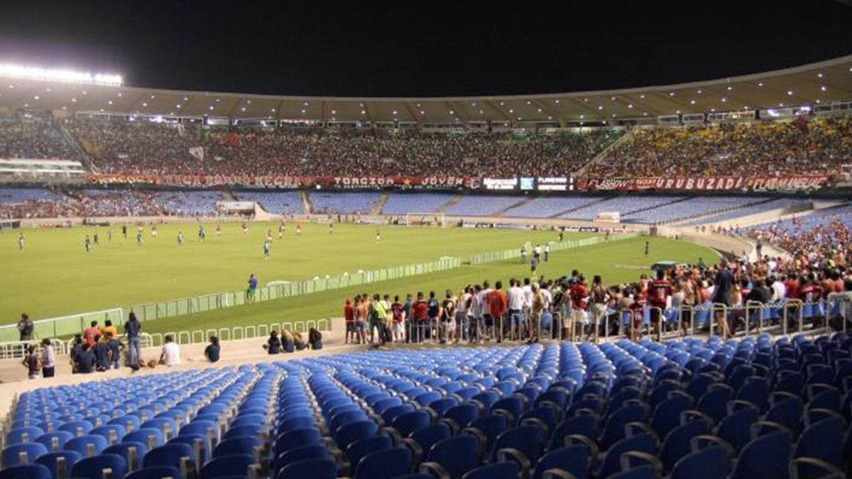 FOOTBALL Maracan stadium Rio de Janeiro Brazil