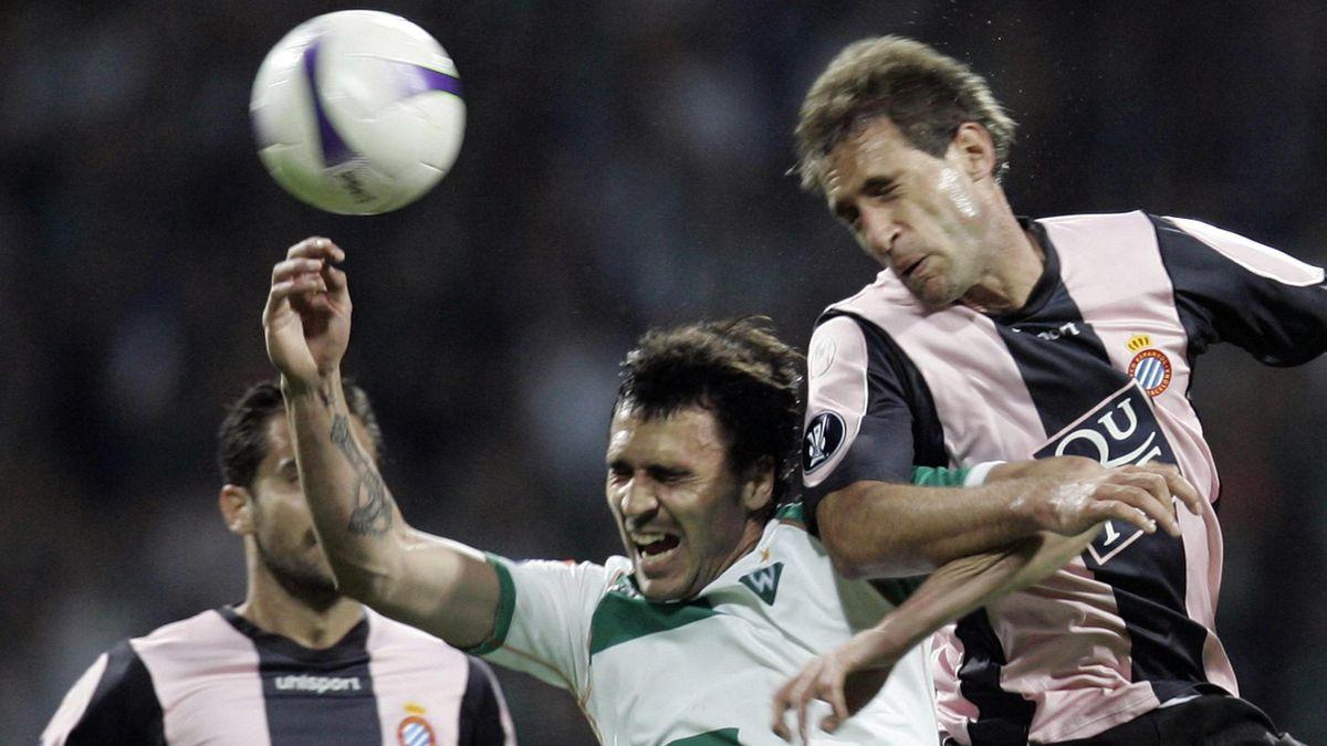 FOOTBALL 2006-2007 UEFA Cup Espanyol Zabaleta Almeida (reuters)