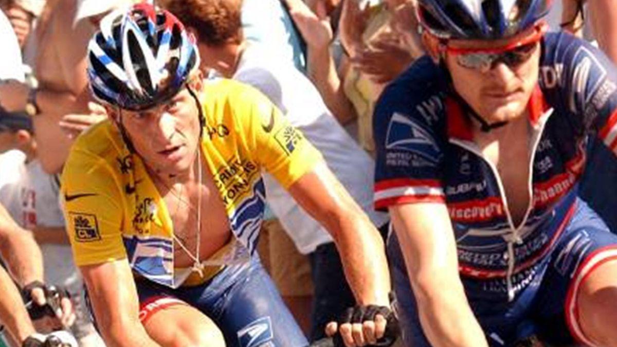 CYCLING 2004 Tour de France US Postal Armstrong Landis