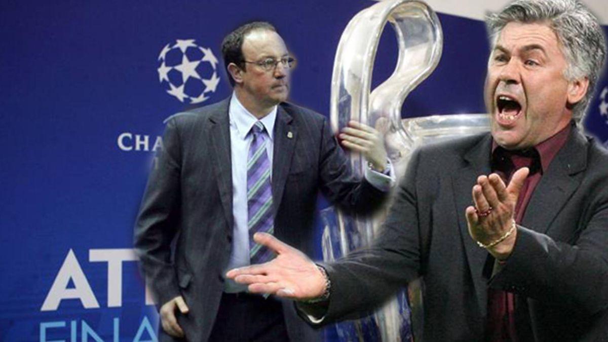 FOOTBALL 2006-2007 Champions League Milan-Liverpool Benitez Ancelotti
