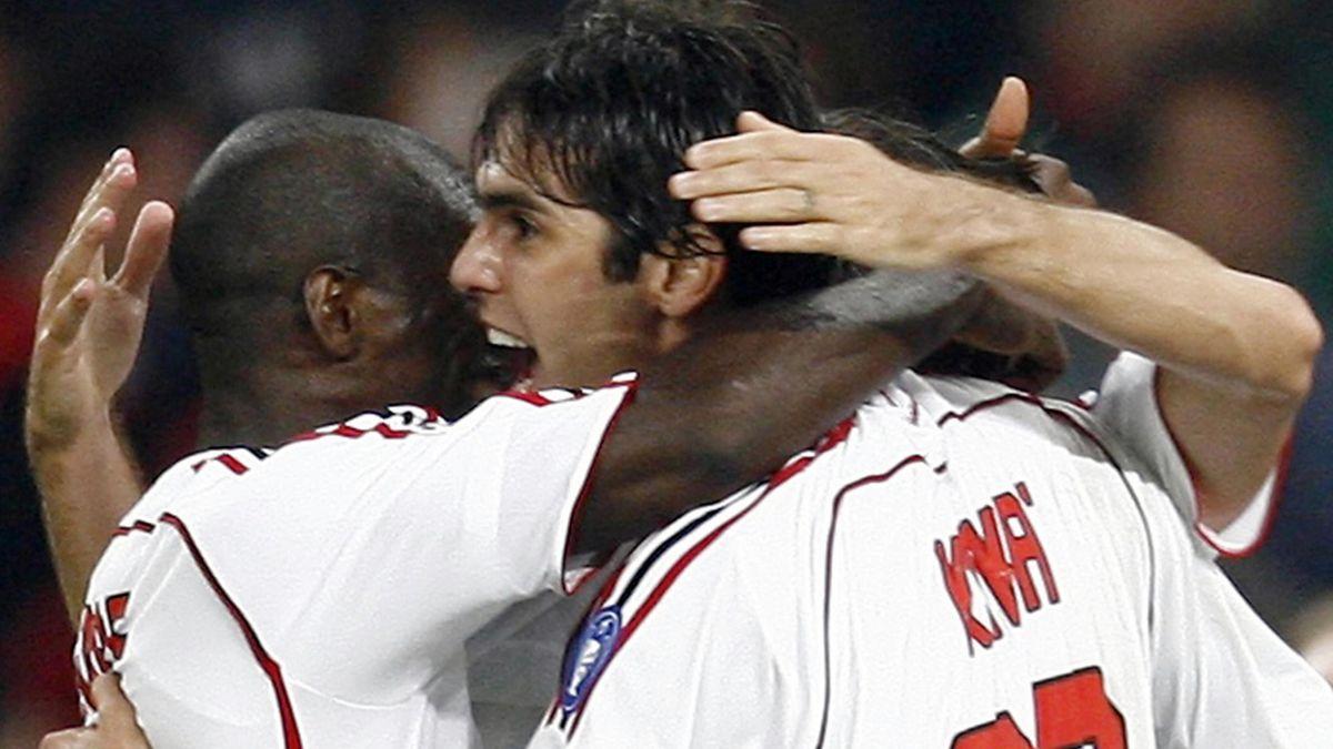 FOOTBALL; Kaka; Milan celebrate, Champions League final, Athens, 2007
