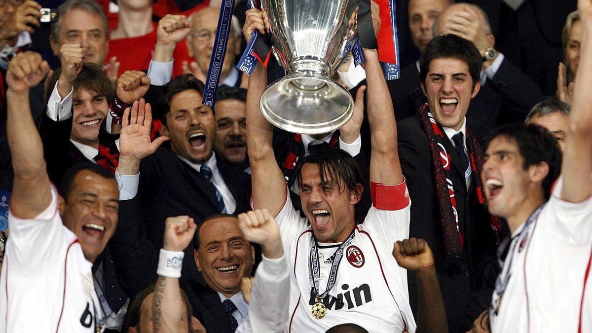 FOOTBALL 2006-2007 Champions League Milan Milan-Liverpool Maldini Mailand