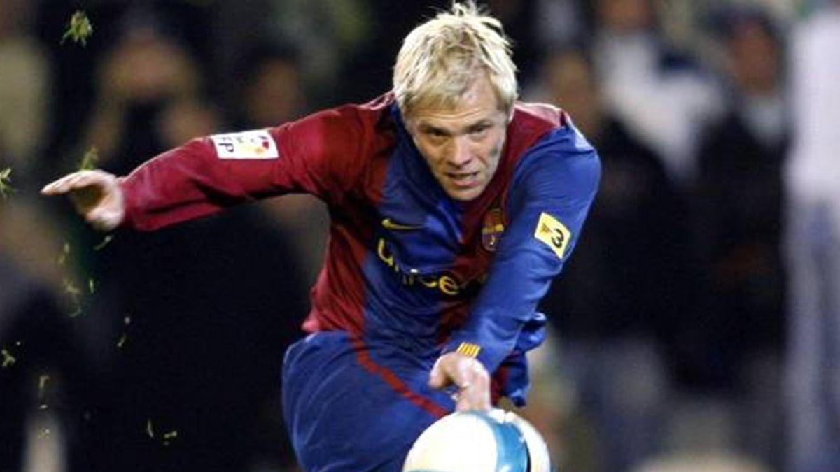 FOOTBALL 2006-2007 La Liga Barcelona Eidur Gudjohnsen