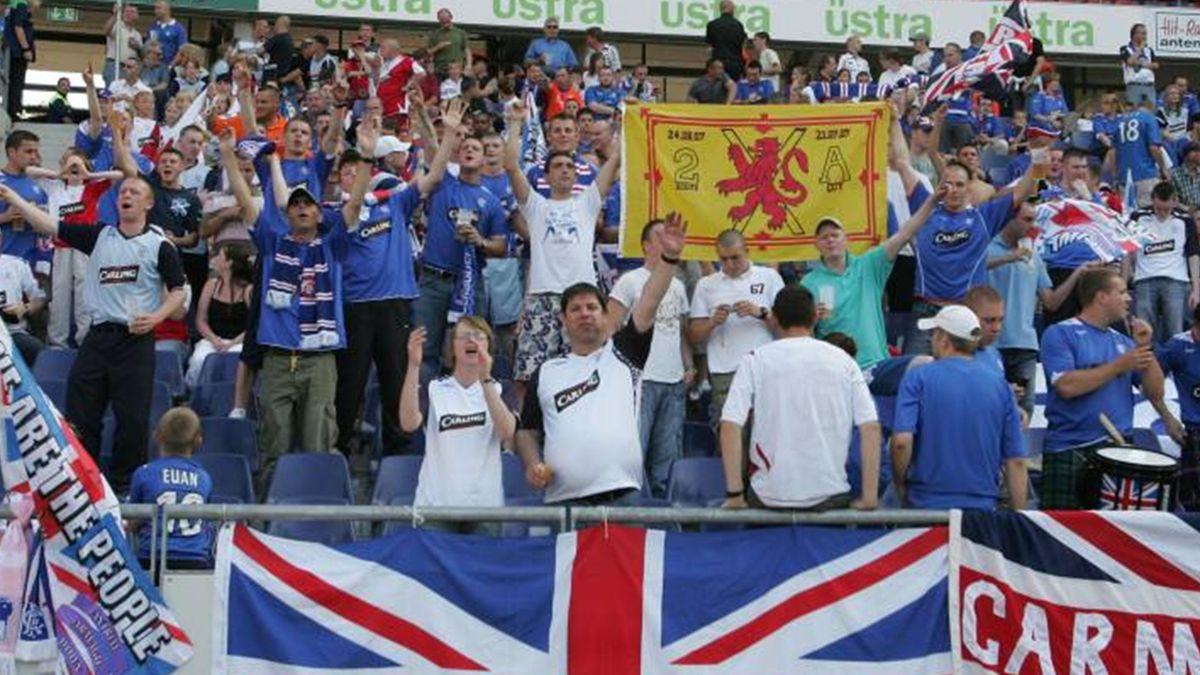 FOOTBALL 2007 Rangers fans