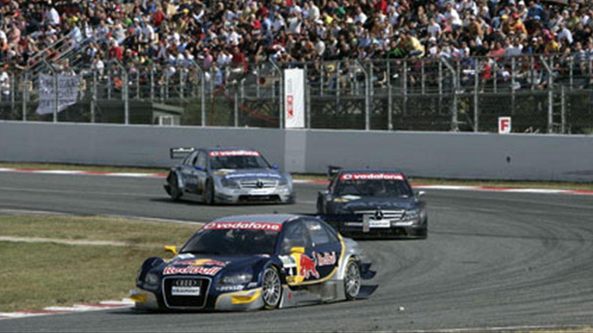 DTM 2007 Barcelona Martin Tomczyk Abt Audi Mika Hakkinen Bruno Spengler AMG Mercedes