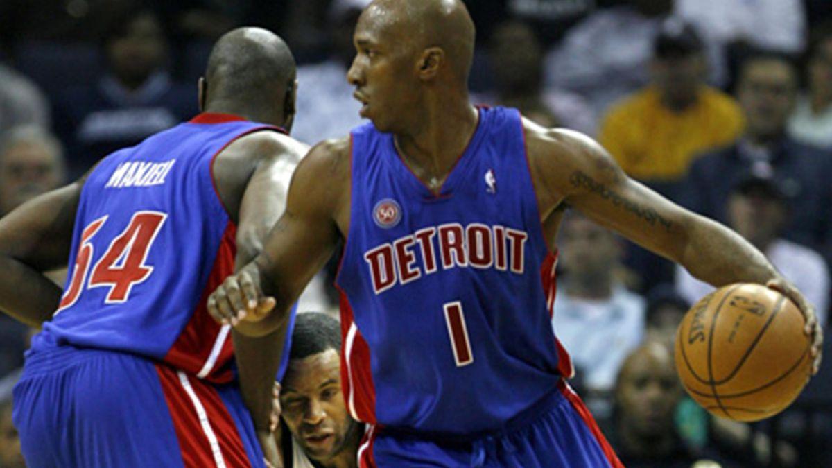 BASKETBALL 2007-2008 NBA Pistons de Detroit Jason Maxiel Chauncey Billups