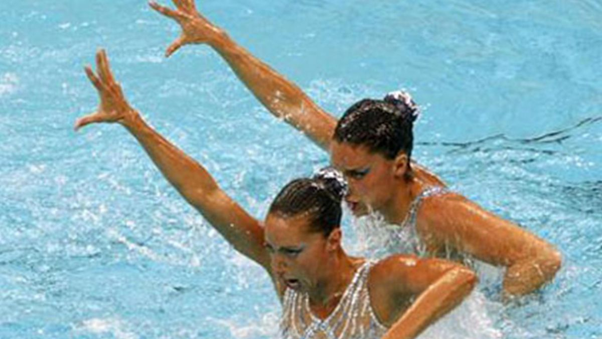 SYNCHRONIZED SWIMMING 2008 Beijing Olympics 2008 Spain Mengual and Fuentes