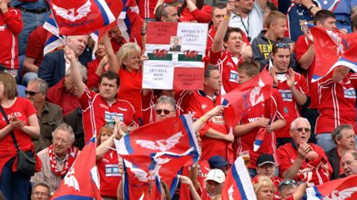 RUGBY Llanelli Scarlets fans