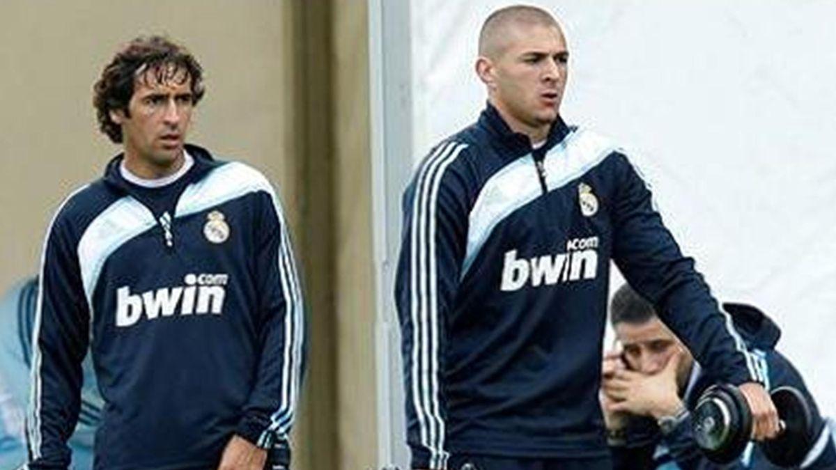 Raul Gonzalez și Karim Benzema