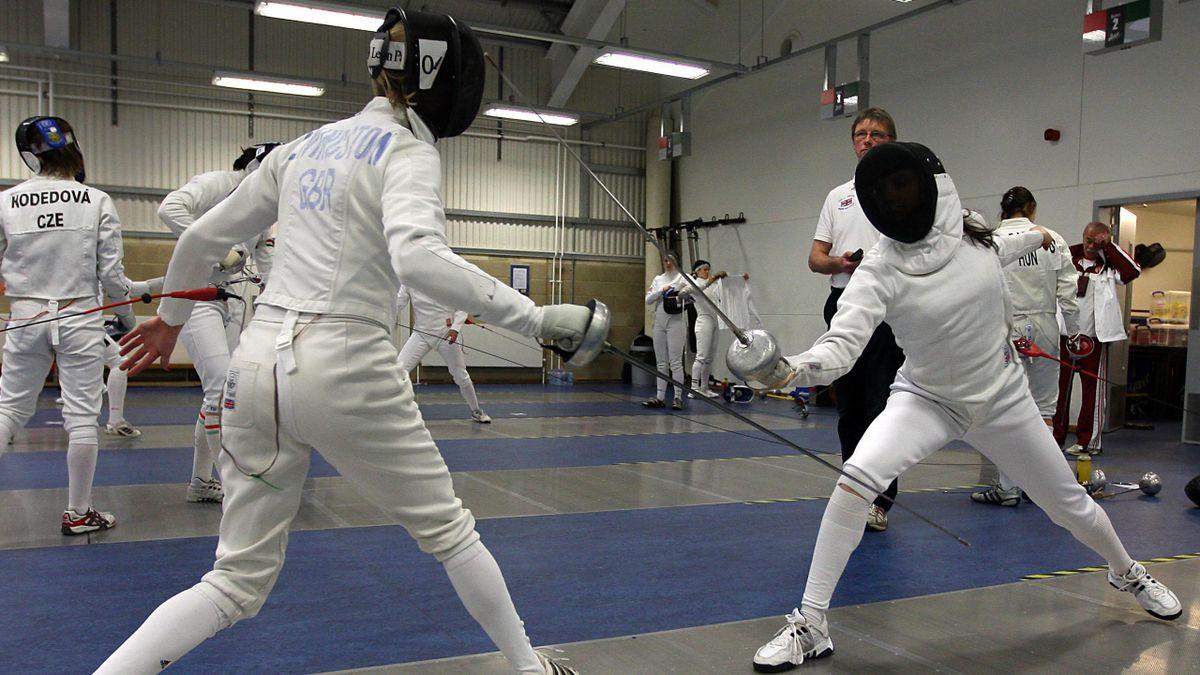 OLYMPIC GAMES Modern pentathlon generic fencing shot