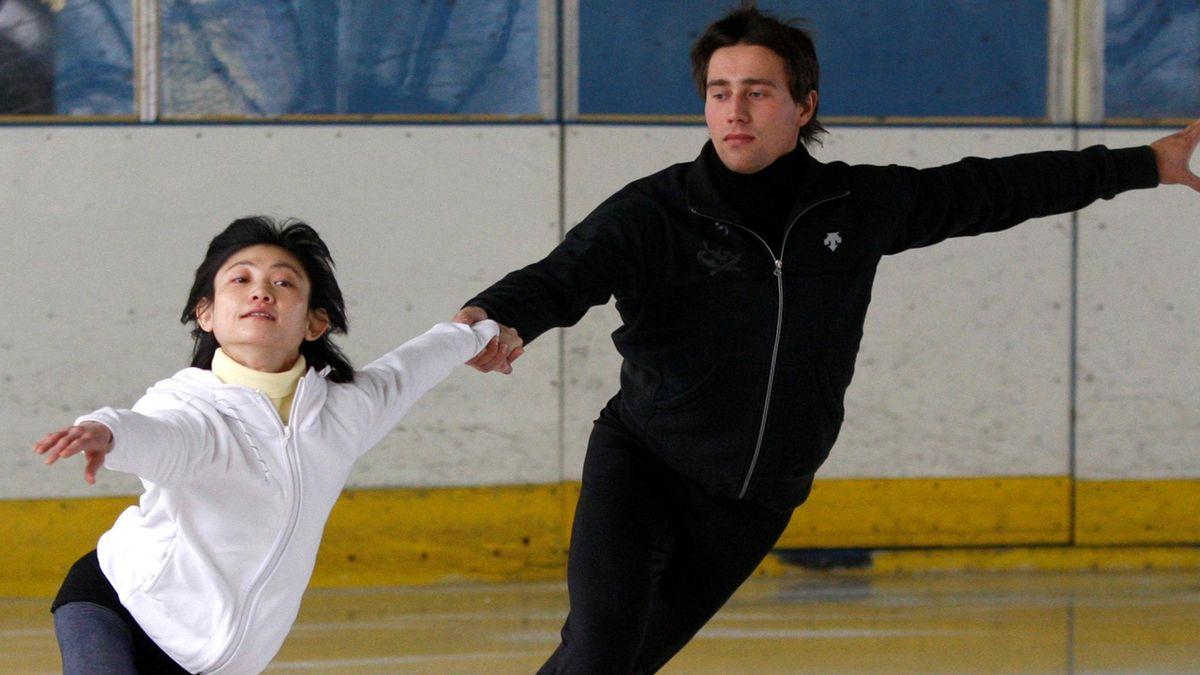 Pairs ice skaters Yuko Kawaguchi and Alexander Smirnov of Russia