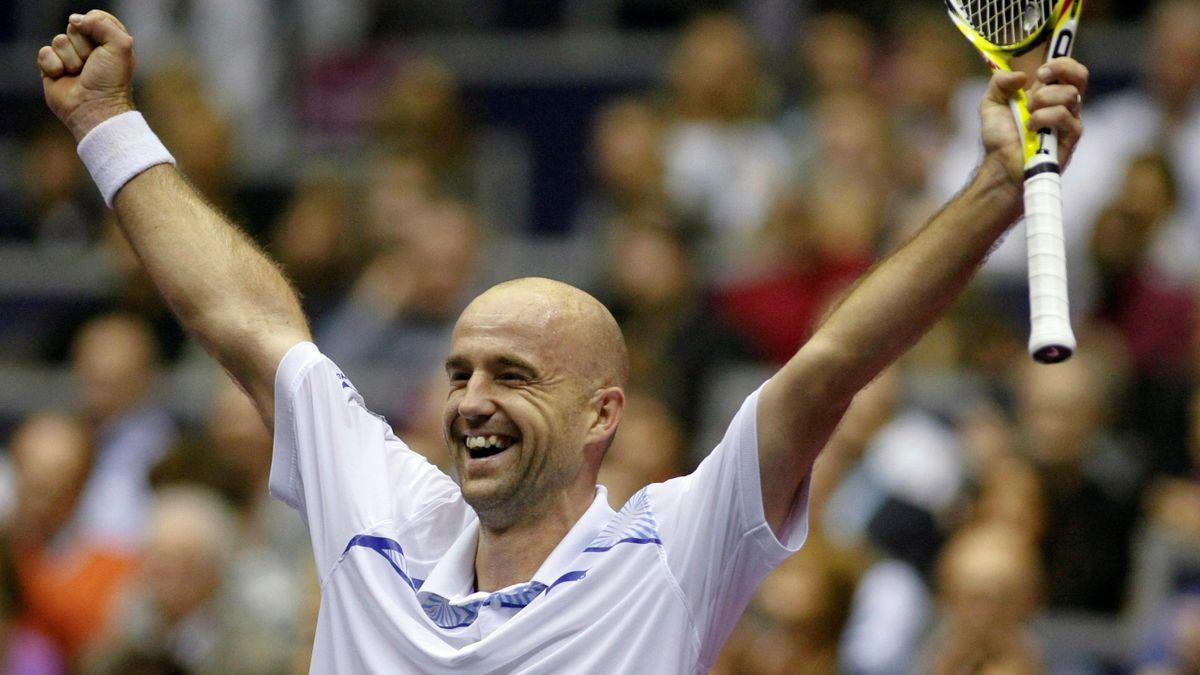 Ivan Ljubicic of Croatia celebrates after winning his Lyon Open final tennis match against Mickael Llodra of France in Lyon, REUTERS
