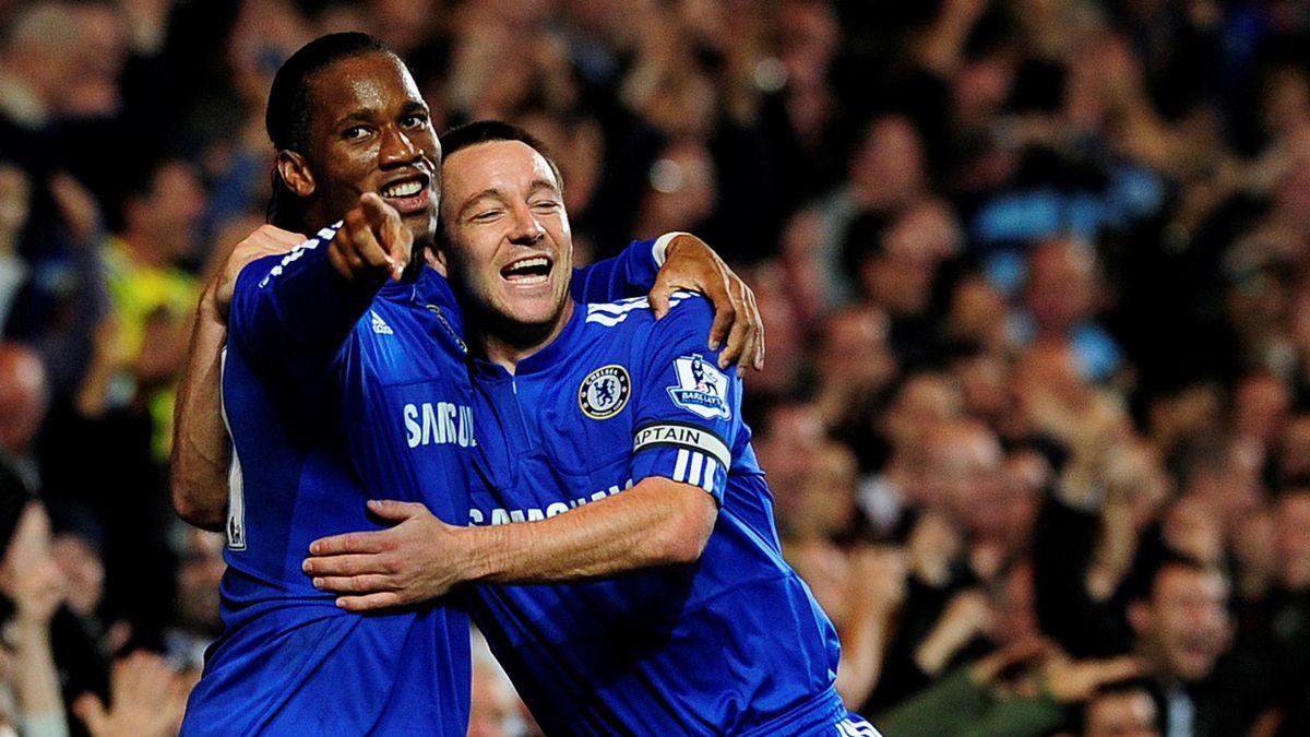2009-2010 Chelsea Didier Drogba John Terry