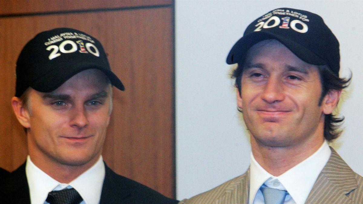 FORMULA ONE Lotus' new drivers Jarno Trulli and Heikki Kovalainen