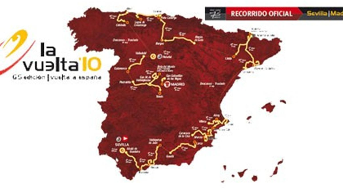 Recorrido de La Vuelta 2010 (lavuelta.com)
