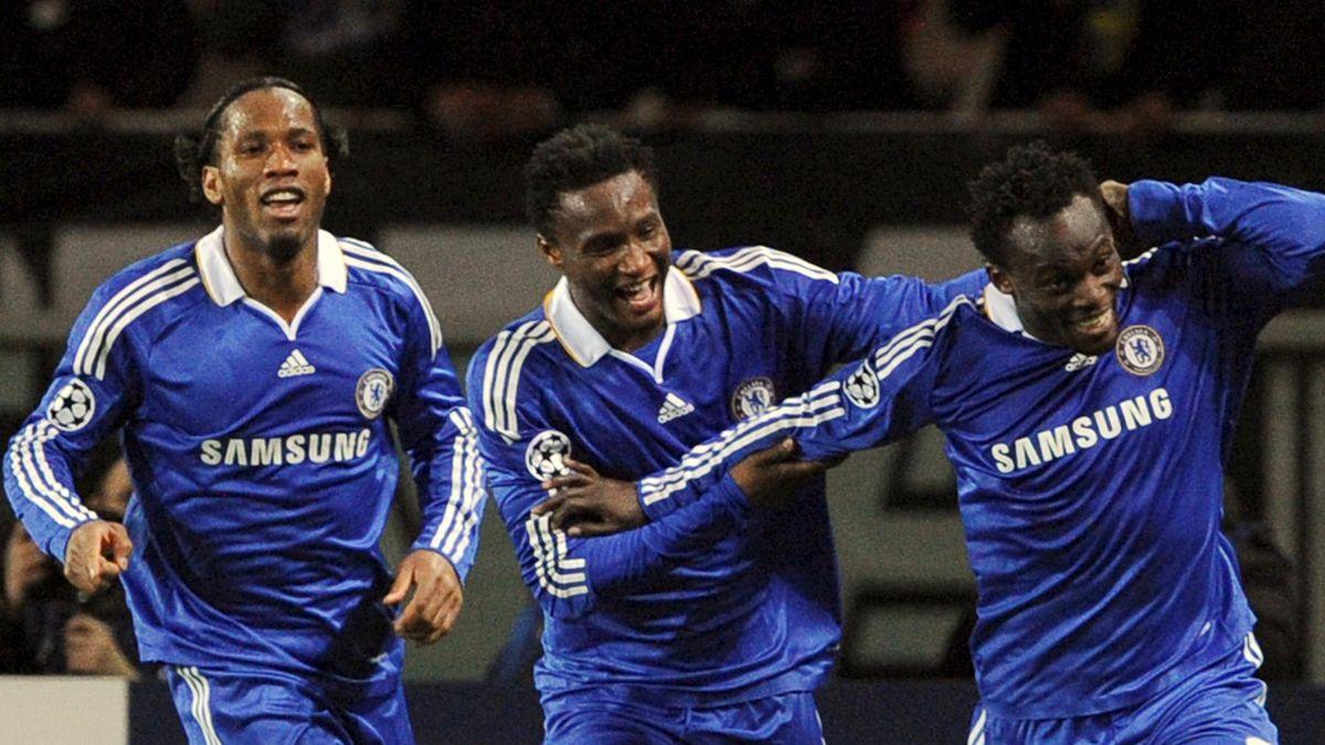 2009 Chelsea Didier Drogba John Obi Mikel Michael Essien