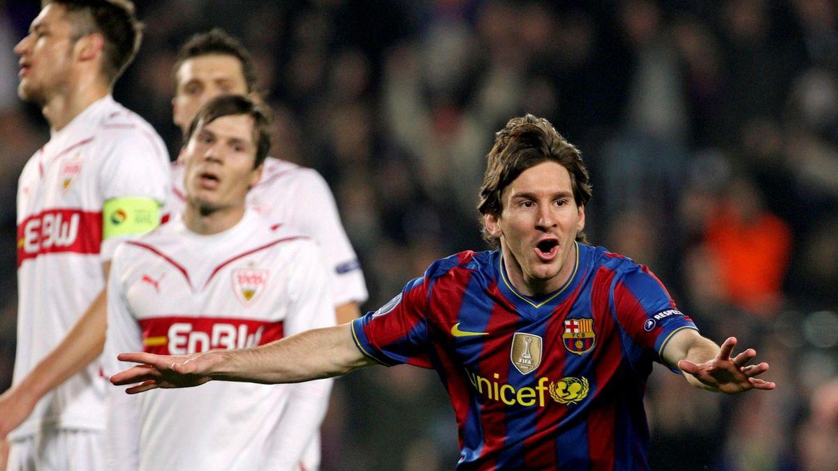 Football 2009-2010 Champions League FC Barcelona-VfB Stuttgart Lionel Messi