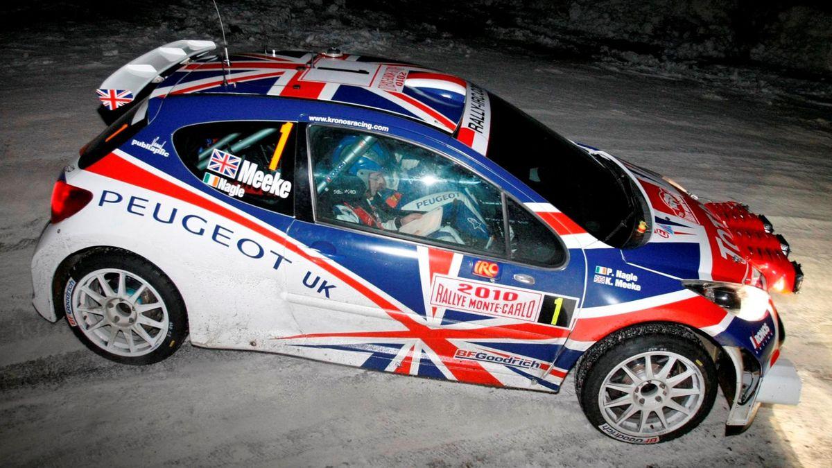 Kris Meeke drives his Peugeot 207 S2000