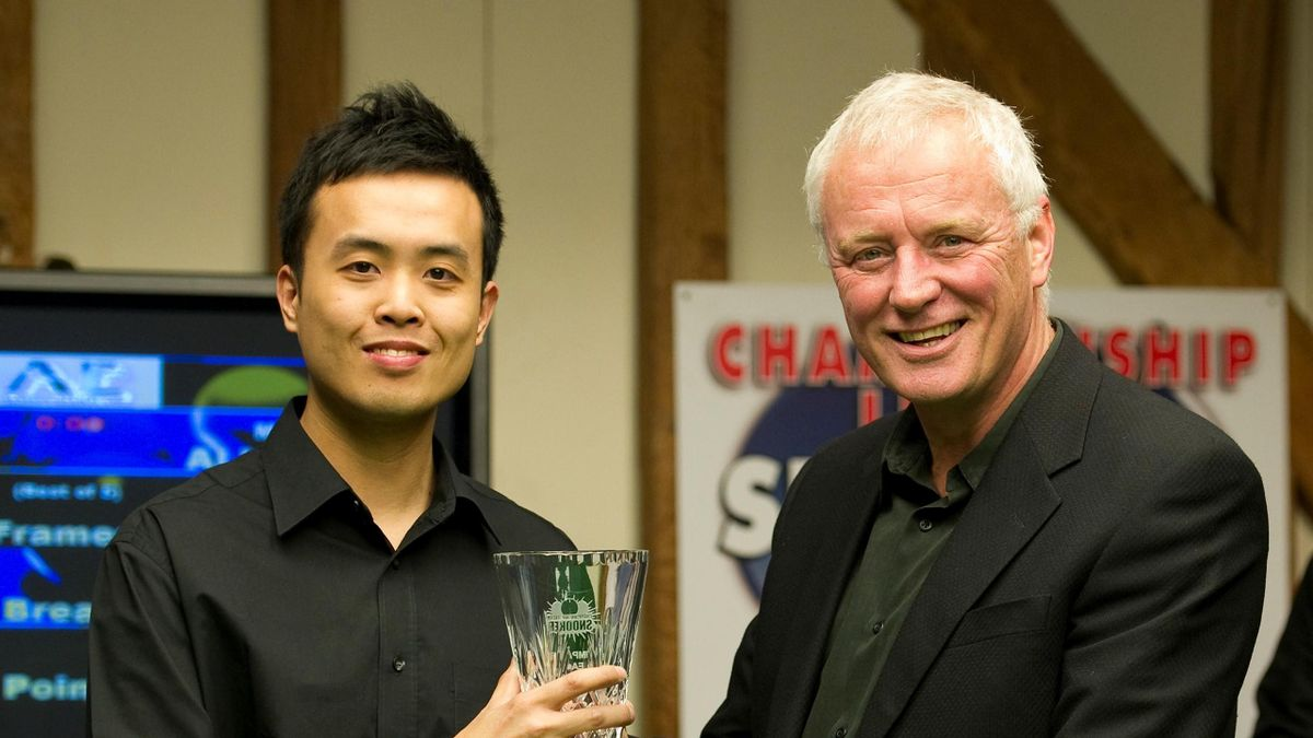 marco fu and barry hearn. fu wins the 2010 championship league snooker beating mark allen 3-2 in the final on march 25, 2010