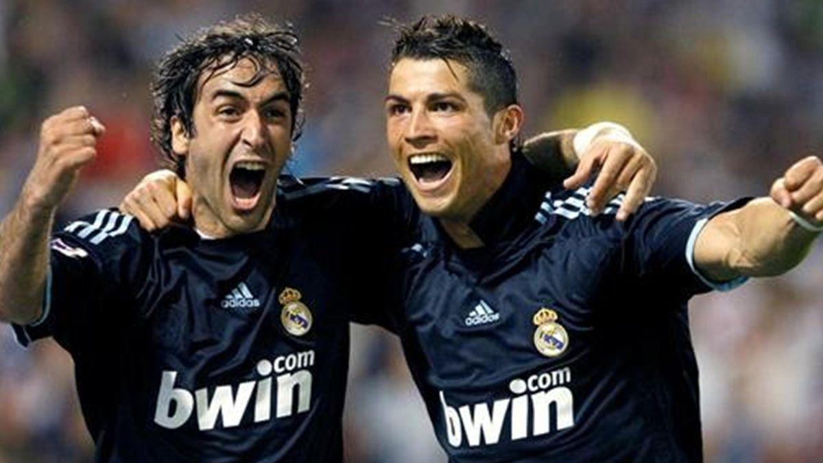 Raúl y Cristiano Ronaldo (Foto: EFE)