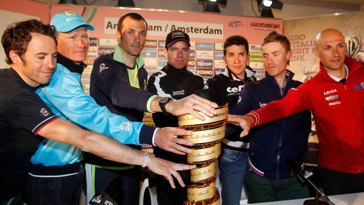 2010 Giro Favoris Vino Sastre Evans Basso Cunego