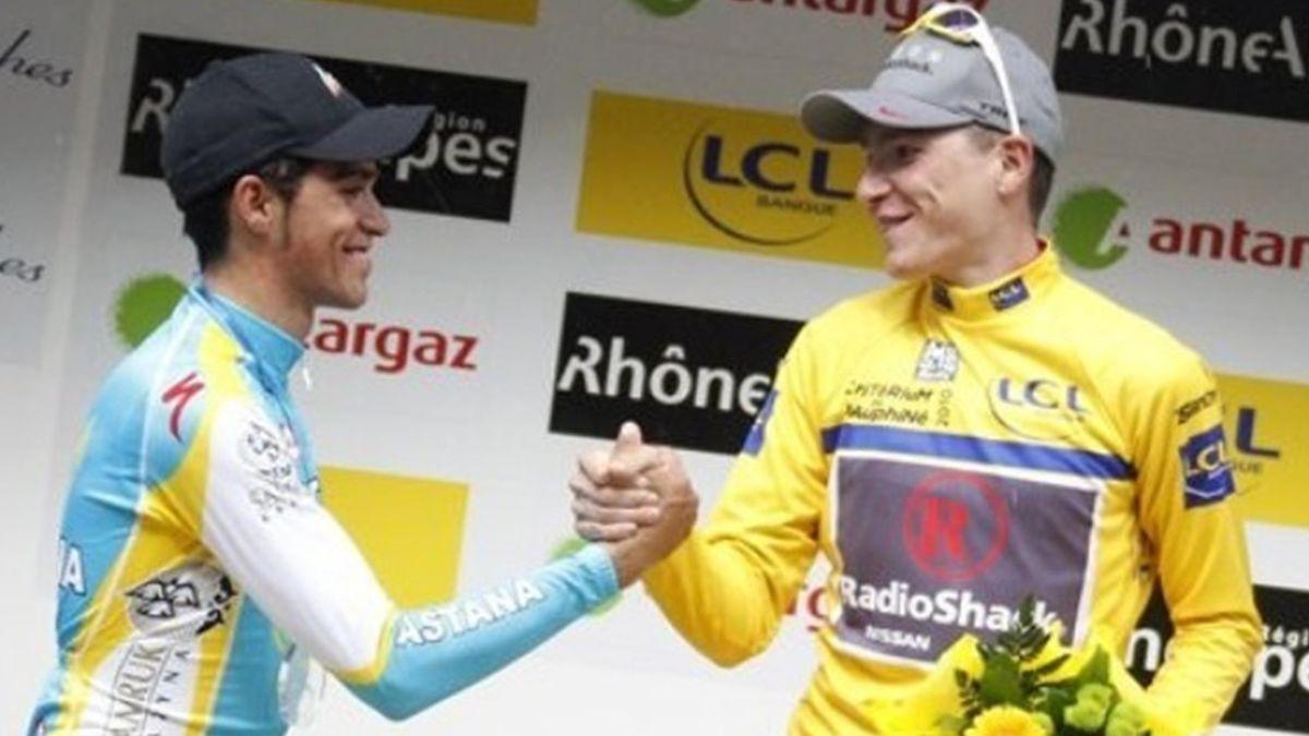 2010 Giro del Delfinato Contador Brajkovic