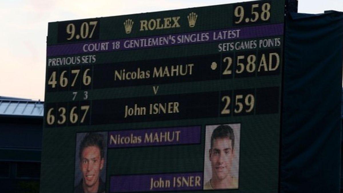 2010 Wimbledon Mahut Isern Tableau