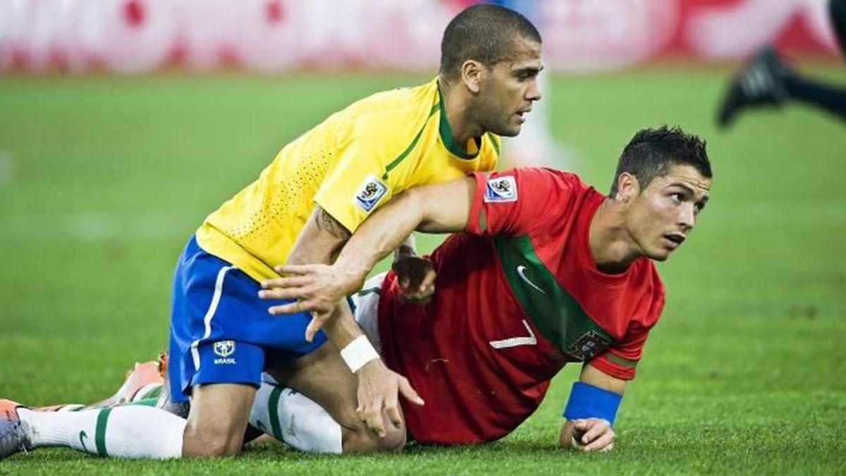 Cristiano Ronaldo and Dani Alves Portugal - Brazil