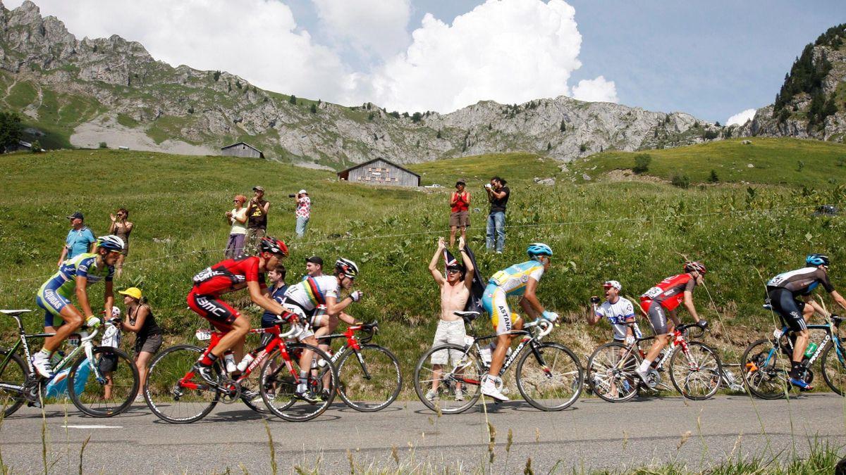 peloton hauptfeld feature tour 2010 alpen 8. etappe