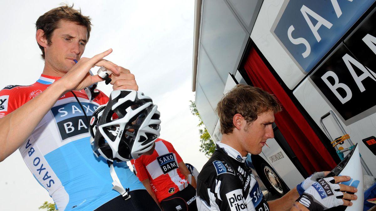 CYCLING 2010 Tour de France Frank Andy Schleck