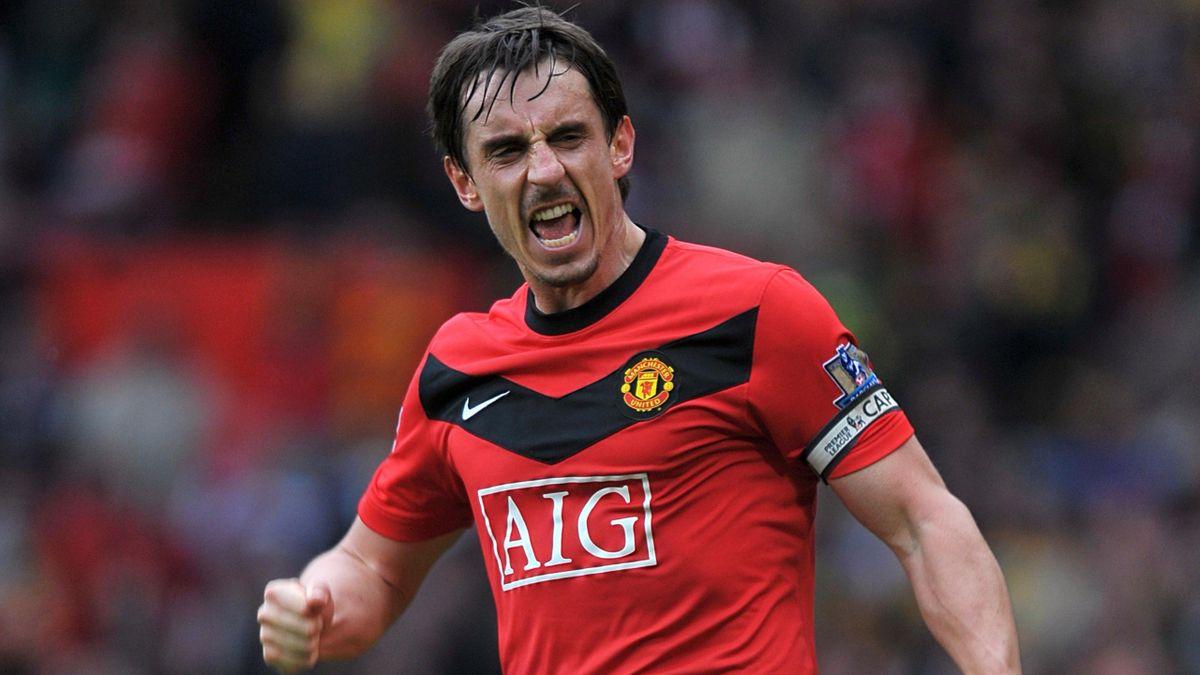 2009-10 Premier League Manchester United Gary Neville