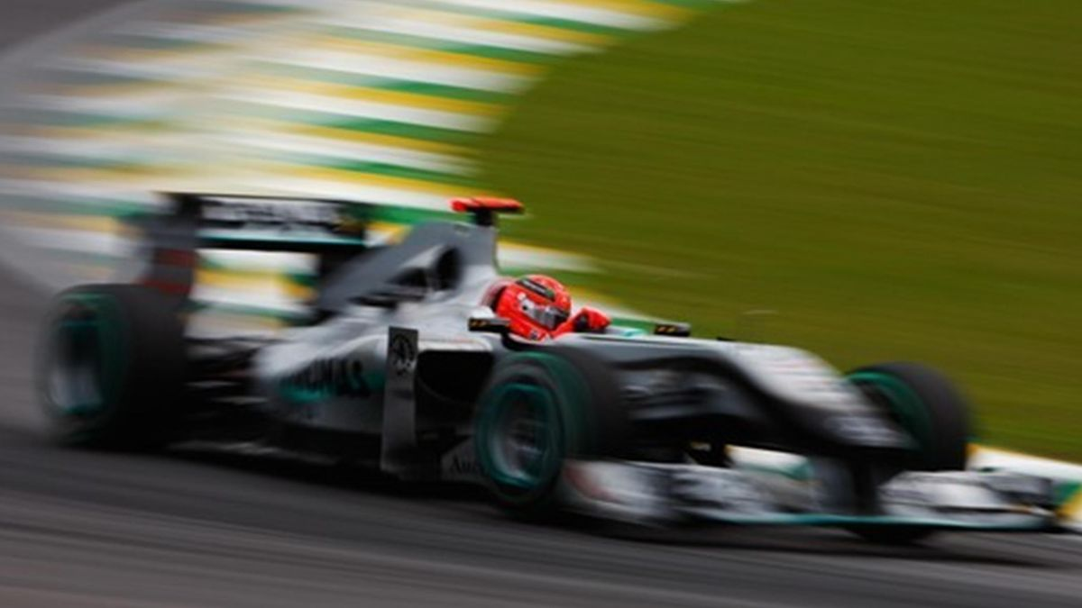 2010 GP du Bresil Mercedes Schumacher