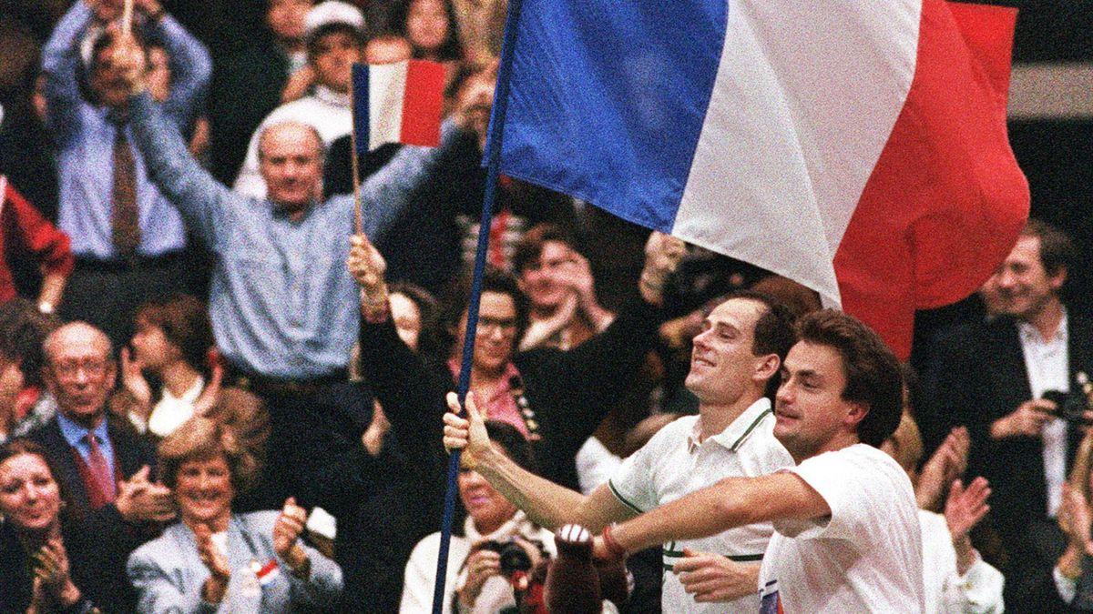 TENNIS COUPE DAVIS 1991 Forget Leconte