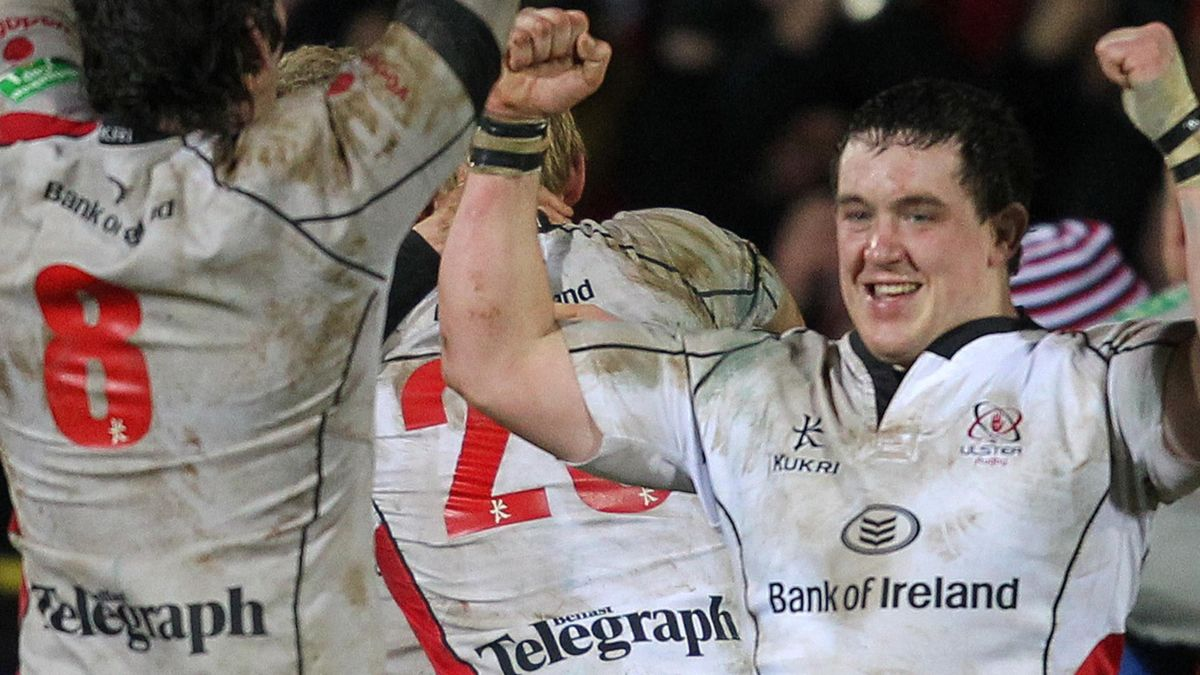 Ulster celebrate a try