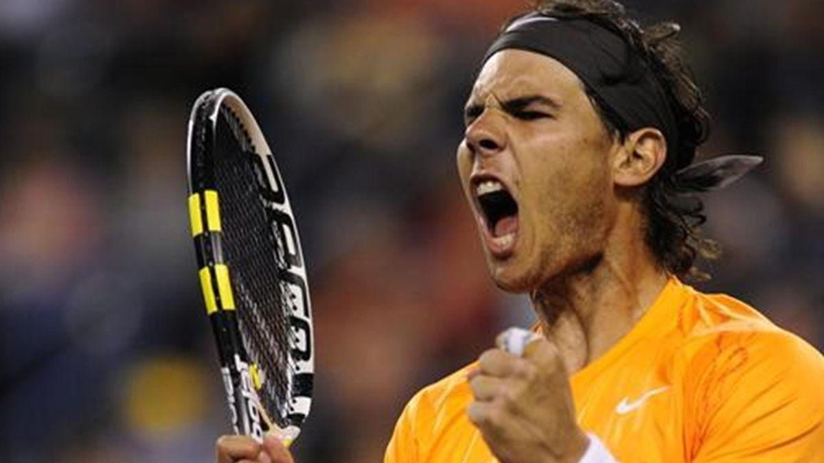 Rafa Nadal celebra la victoria en Indian Wells