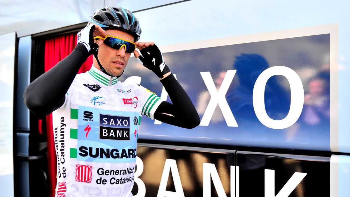 CYCLING Alberto Contador of Saxo Bank during the Vuelta a Catalunya on March 24