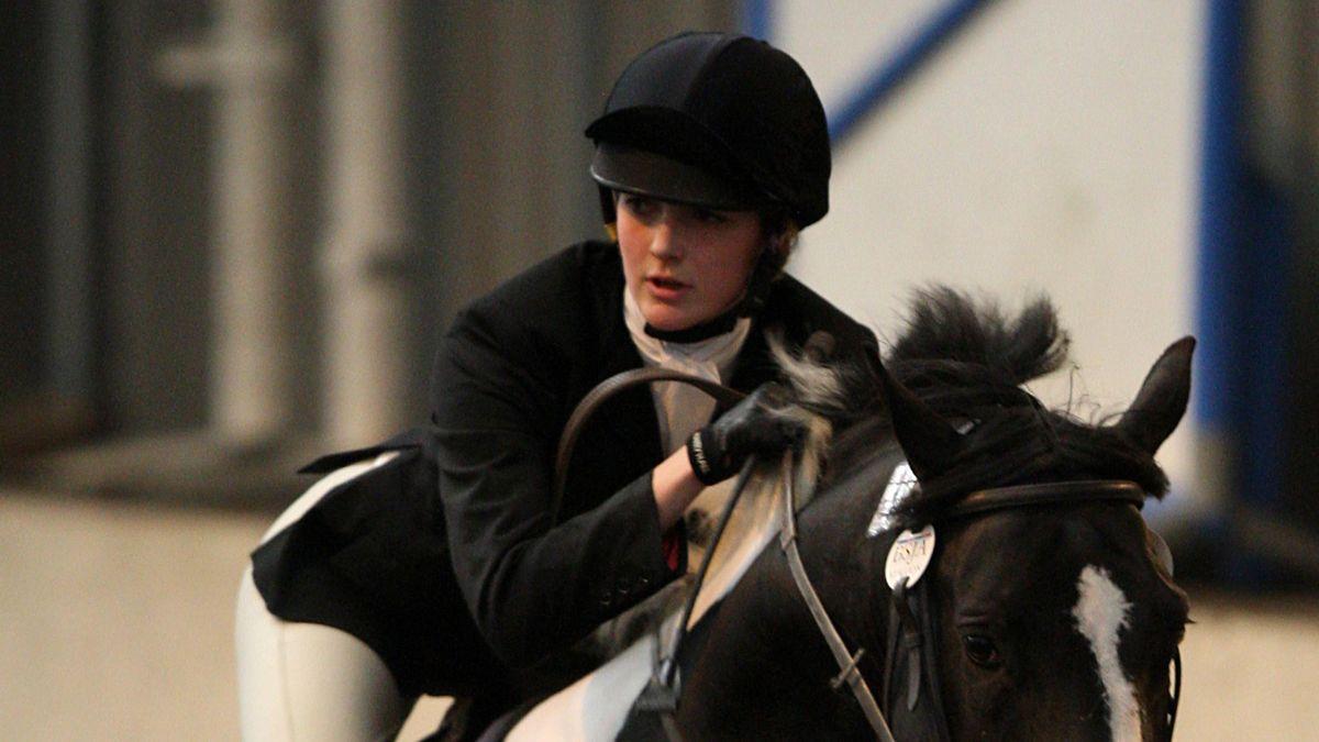 Great Britain's Freyja Prentice during the Equestrian part of the Pentathlon