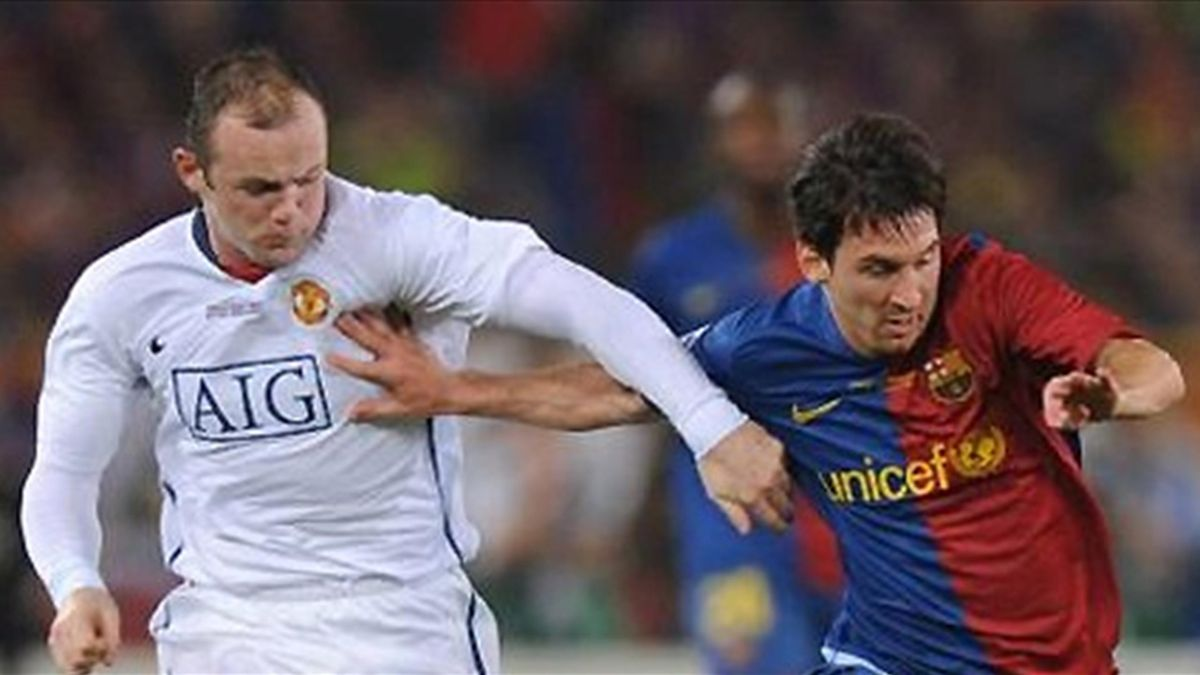 Football 2009 Champions League Rooney Messi