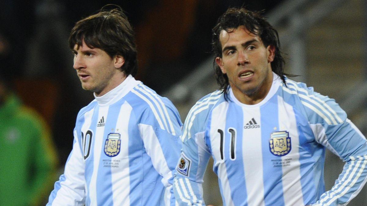 FOOTBALL Argentina Carlos Tevez Lionel Messi