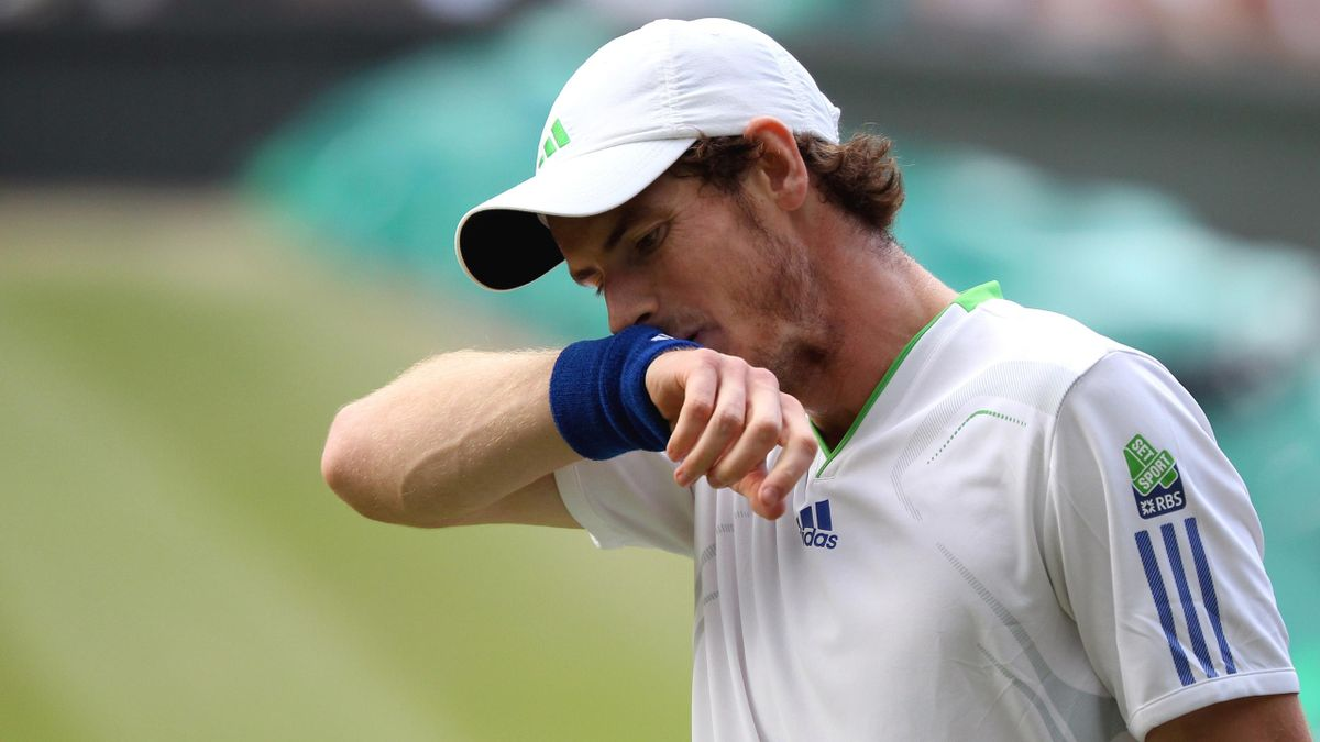 TENNIS Andy Murray during his Wimbledon semi-final defeat to Rafael Nadal