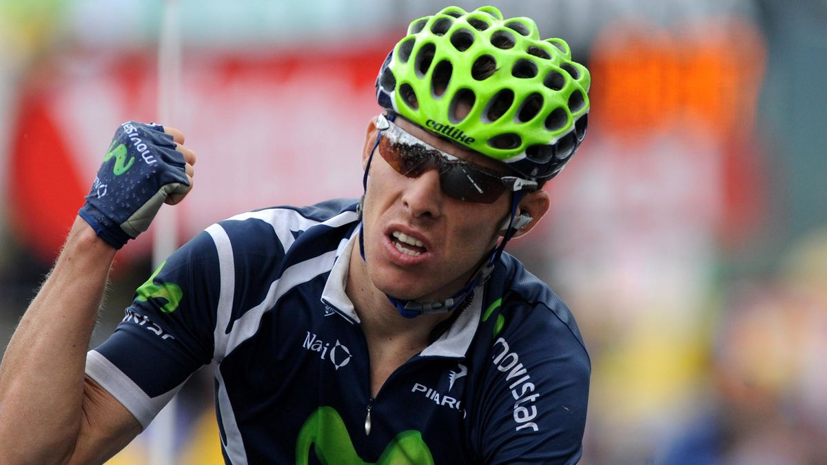CYCLING Rui Costa of Movistar after winning stage eight of the Tour de France