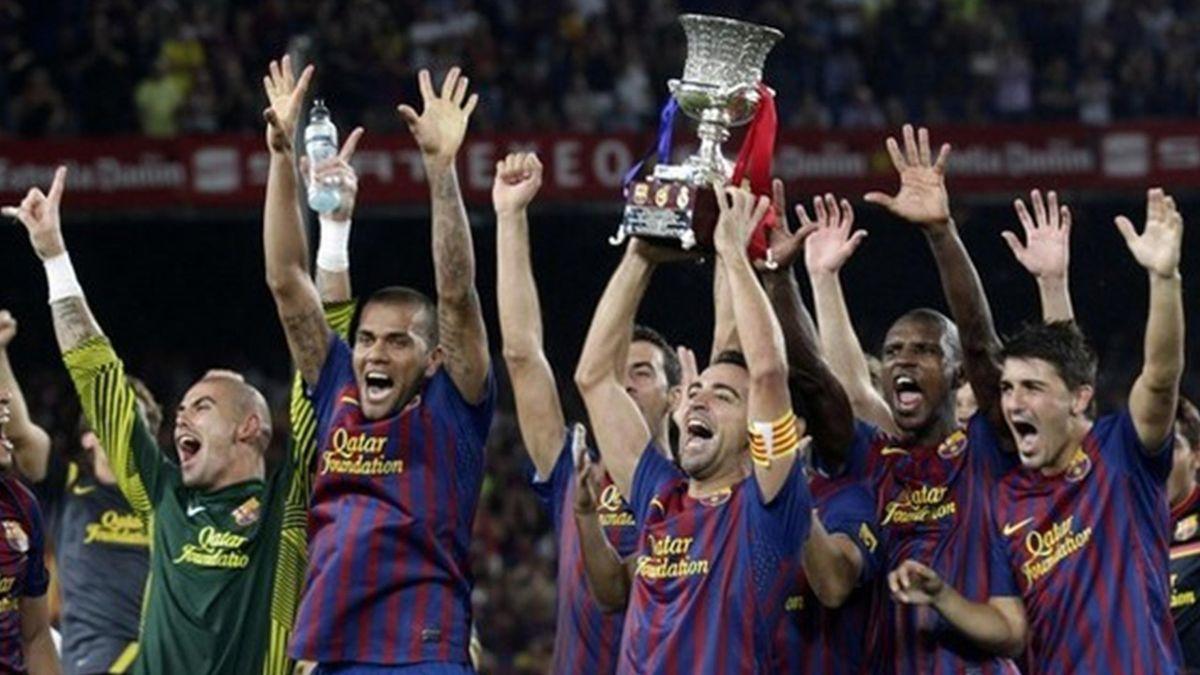 FOOTBALL 2011 Barceloan-Real (Xavi)