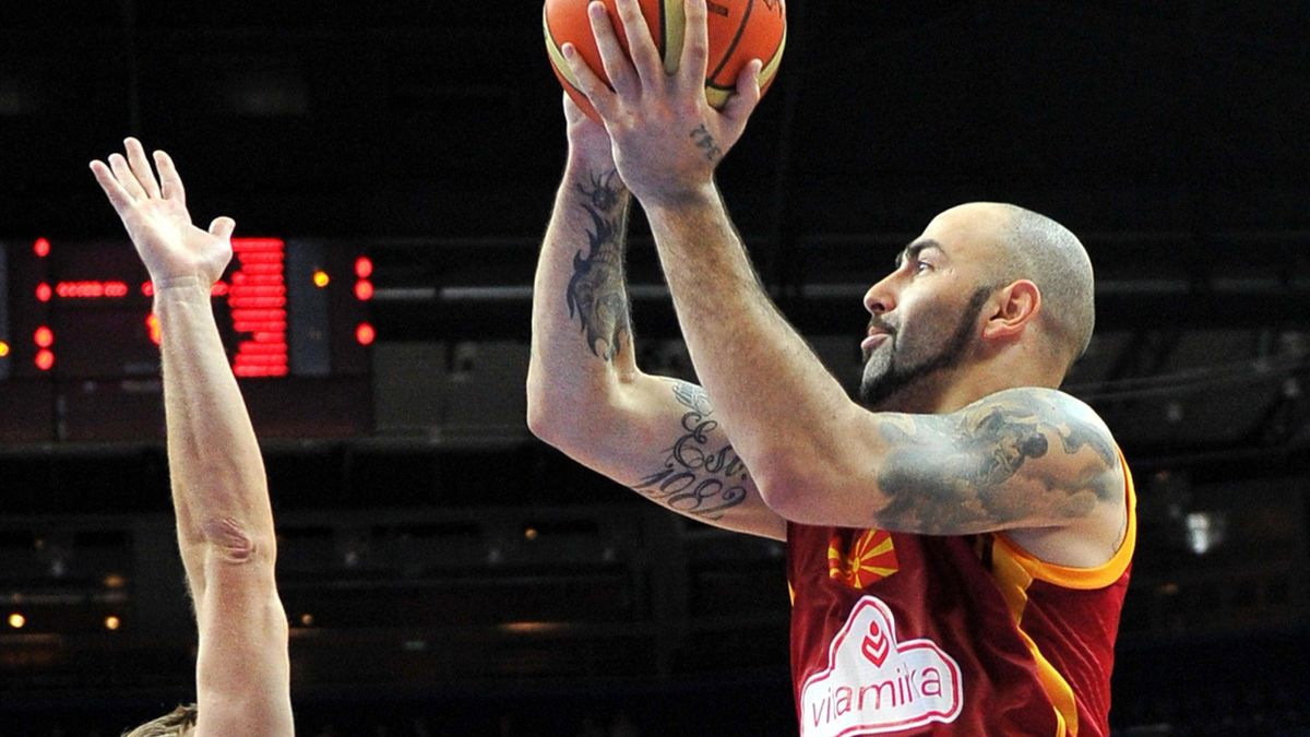BASKETBALL Macedonia's Pero Antic during the Eurobasket match with Georgia