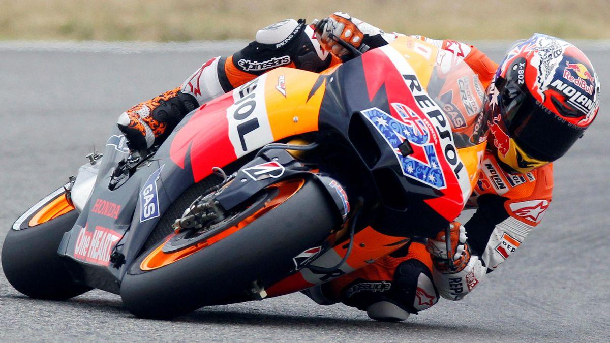 Honda MotoGP rider Casey Stoner at Misano