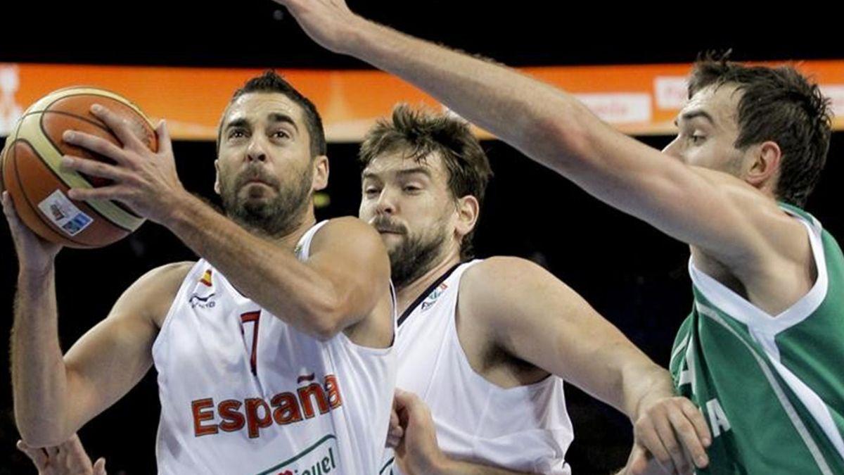 España-Eslovenia Eurobasket Navarro y Gasol